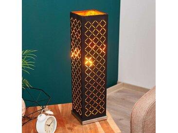 Lampe à poser Julita, noir-or, carrée, 57cm– LAMPENWELT.com