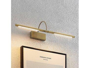 Lucande Fehmke applique pour tableau LED, laiton