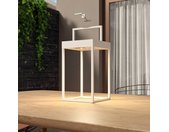 Lucande Lynzy lampe solaire LED, blanche, 38,3cm