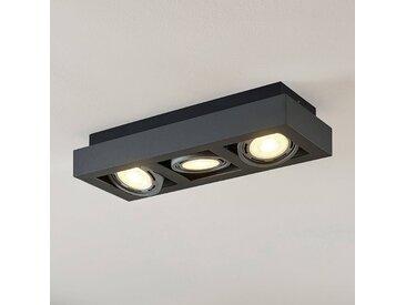 Spot pour plafond LED Ronka, 3 lampes, gris foncé