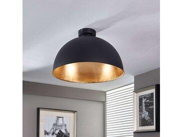 Joli plafonnier Lya, noir-doré– LAMPENWELT.com