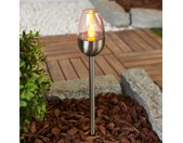 Lampes solaires LED inox fines Lugin, 3 unités
