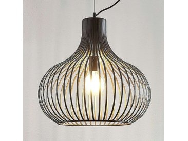 Suspension Frances cage, brune, 1 lampe, Ø 48 cm– LAMPENWELT.com