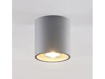 Lindby Parvin downlight en aluminium, rond, gris