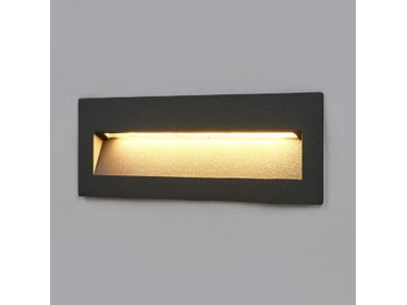 Lampe enc. LED Loya foncée, montage mural ext.– LAMPENWELT.com