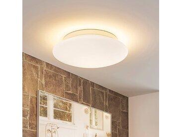 Plafonnier LED verre Toan blanc, IP44