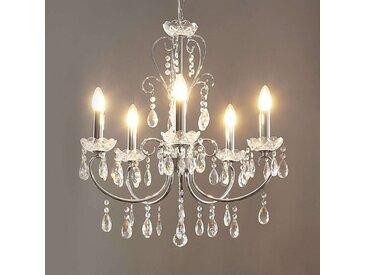 Lustre chromé Solveig avec des cristaux– LAMPENWELT.com