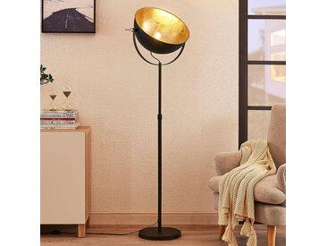 Lampadaire Muriel à 1lampe, noir/or