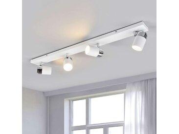 Plafonnier avec spots à 4 lampes Kardo, IP44– LAMPENWELT.com