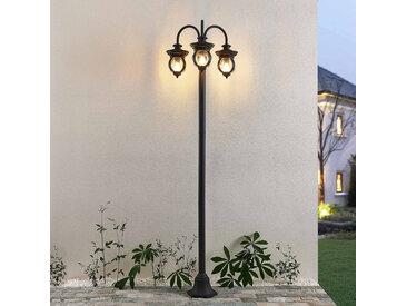 Lindby Farley lampadaire d'extérieur à 3 lampes