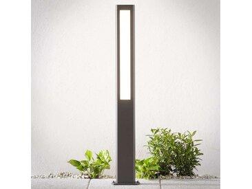Borne lumineuse LED Mhairi, gris foncé, 100cm– LAMPENWELT.com