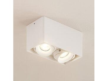 Arcchio Kubika downlight GU10 à 2 lampes, blanc