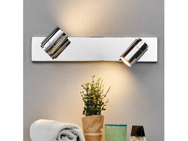 2 lampes Applique pour salle de bain Dejan chromée