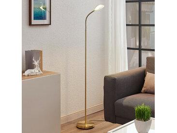 Liseuse LED Ajenne avec bras flexible, laiton