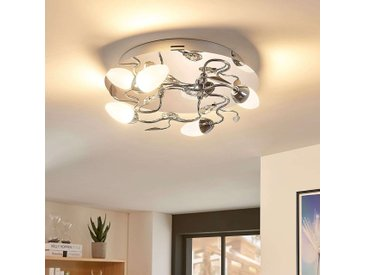 Plafonnier LED dimmable Mischa rond, 4 lampes– LAMPENWELT.com