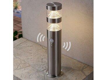 Luminaire pour socle LED Lanea en inox à détecteur– LAMPENWELT.com