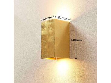 Applique Tabita en métal doré, à 2 lampes– LAMPENWELT.com