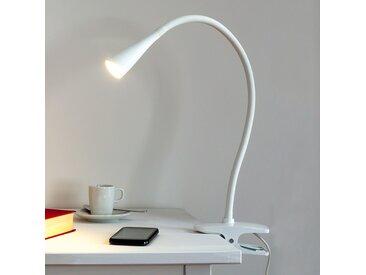 Lampe à pince LED Baris fine blanche