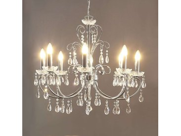 Impressionnant lustre chromé Solveig– LAMPENWELT.com