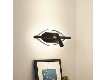 Lucande Matwei applique LED, ovale, nickel
