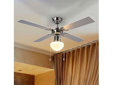 Ventilateur de plafond lumineux Milana, E27– LAMPENWELT.com