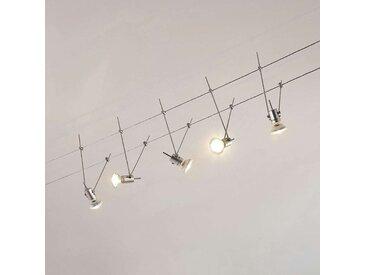 Système de lampes LED sur câble Marno, à 5 lampes– LAMPENWELT.com