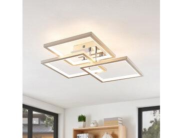 Lucande Avilara plafonnier LED, 70cm x 70cm