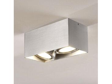 Downlight LED Rosalie à 2 lampes, angulaire, alu