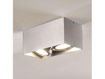 Downlight LED Rosalie à 2 lampes, angulaire, alu– LAMPENWELT.com