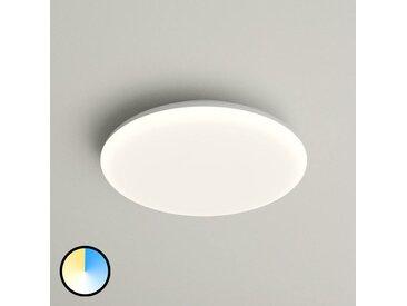 Plafonnier LED Azra, blanc, rond, IP54, Ø 25cm– LAMPENWELT.com