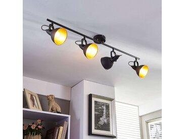 Projecteur de cuisine noir doré Julin, à 4 lampes