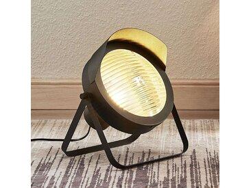 Lampe à poser Henega aspect projecteur, noir– LAMPENWELT.com