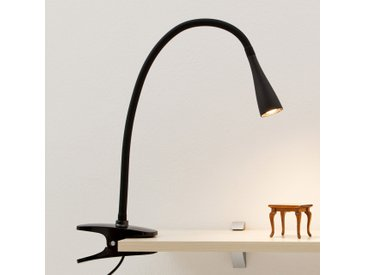 Lampe à pince LED Baris fine noire