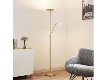 Lindby Sumani lampadaire LED, rond, laiton