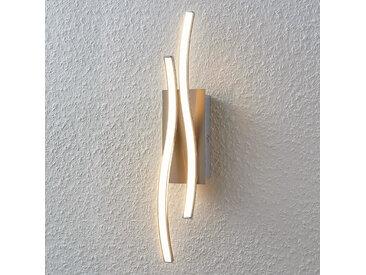 Applique LED Safia, forme ondulée