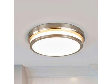 Plafonnier LED rond Elisabetta, nickel– LAMPENWELT.com