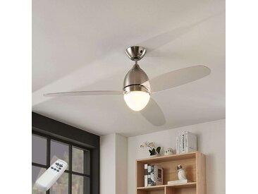 Ventilateur plafond Piara, éclairé, transparent– LAMPENWELT.com
