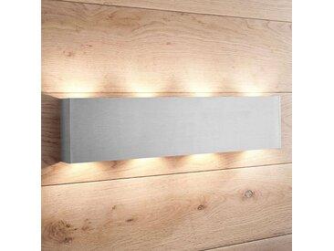 Applique LED Manon, nickel satiné, 46 cm– LAMPENWELT.com