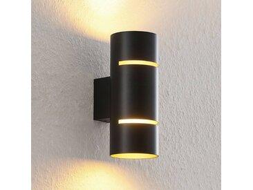 Lindby Deora applique LED ronde, noire-cuivre