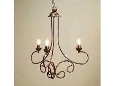 Lustre Ennio, or ancien à 3 lampes– LAMPENWELT.com