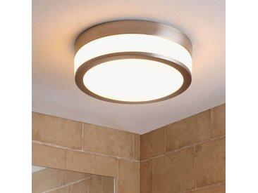 Plafonnier de salle de bain LED Flavi, nickel mat