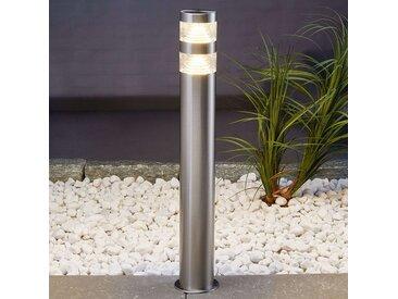 Borne lumineuse LED Lanea en inox 60 cm