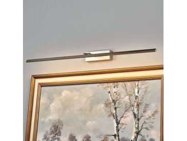 Applique tableau LED Emilias, nickel mat, 83,4 cm– LAMPENWELT.com