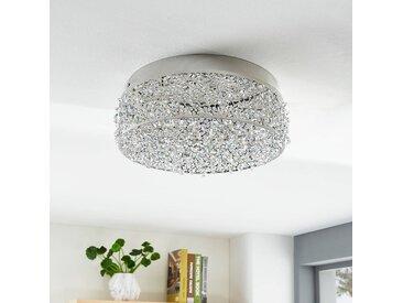 Plafonnier LED Felias étincelant, rond