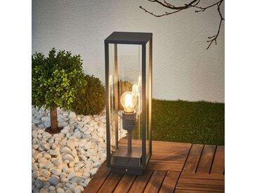 Lampe pour socle en verre Annalea, gris graphite– LAMPENWELT.com
