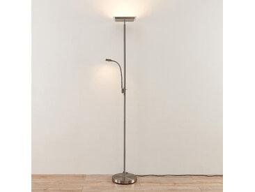 Lindby Kavi lampadaire LED avec liseuse, angulaire