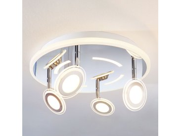 Plafonnier LED Enissa, rond, à 4 lampes
