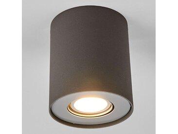 Downlight LED Giliano à 1 lampe, rond, graphite– LAMPENWELT.com
