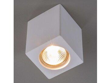 Downlight plâtre Anelie pour culot GU10, H 11cm– LAMPENWELT.com