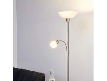 Lampadaire LED Elaina à 2 lampes nickel mat– LAMPENWELT.com